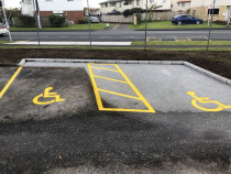 Repainting of lines in a commercial carpark - Recent work done by Paint Crew In Auckland