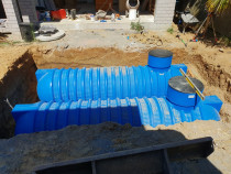 Underground storm water detention tanks