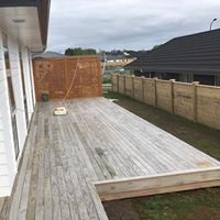 deck prior to Precision And Quality Painting Ltd