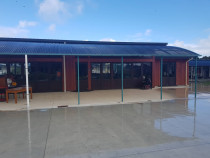 Primary school - R&B Construction completed a superb job putting in a new Kwila joinery and Cedar cladding at Flanshaw Primary school, Te Atatu.