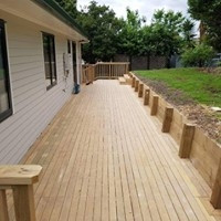 Renovation - R&B Construction Ltd completed a deck for a happy customer located in Pakuranga.