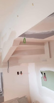 Beautify Under Staircase on Kitchen - Install angles under staircase on kitchen to a beautiful finished