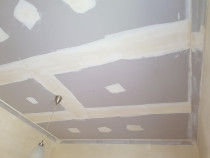 New ceiling Gib & stopping - Installing New ceiling gib and stopping works,