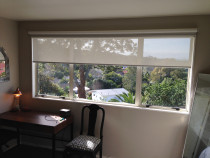 Dual roller blinds - Manual operated dual roller blinds. Sunscreen and black out fabrics.