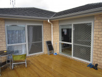 Sliding security doors - Single sliding security doors with insect mesh