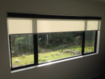 Dual roller blinds - Sunscreen and black out fabric manual operation