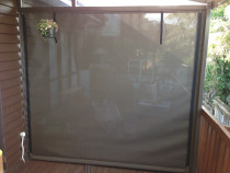 Hand roll zipped Mesh outdoor screen - Mesh outdoor screen with openness factor 1%