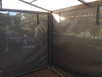 Outdoor hand roll Mesh screens - Mesh outdoor screen with openness factor 1%