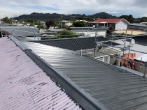 Whangamata Re Roof by Rs Roofing Ltd - Replaced Corrugate with a Trapazoidel profile in Windsor Grey colour