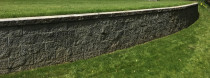 "Keystone wall: Sculptaview Landscaping Ltd. - This is built from ""RockLok"". (keystone by Bowers)