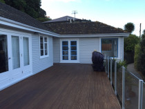 painting house and stain deck