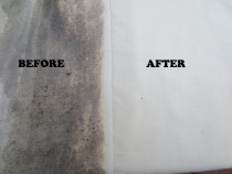 Mould and Mildew removal - Our mould removal treatment ensures we get rid of all the mould including live mould and spores for healthier, cleaner living.  You will be amazed at the difference in the look and smell of your curtains.