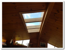 MULTI PANEL SKYLIGHT WITH RIMU FINISH TO MATCH CEILING ETC