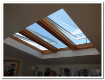 3 SKYLIGHTS - TWO ELECTRIC OPENING AND ONE FIXED - Rimu finish internal trim