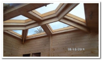 IRREGULAR SHAPE SKYLIGHTS WITH RIMU FINISH TO MATCH INTO EXISTING - Because all our skylights are custom made to your/homeowners requirements.  We can make them to what size, shape etc to suit your home and structure.