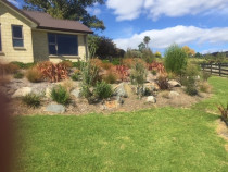 Rockery garden and lawn