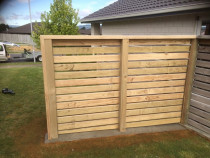 Privacy barrier to back garden