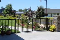 Aluminium Security fencing gates and garden layout