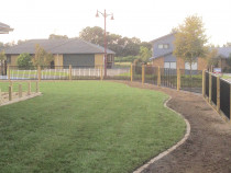 Garden layout and design, garden edging and instant turf lawns.