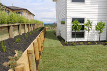 Raised gardens, instant lawns and retaining walls