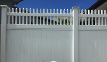 PVC Fence and gates with open picket style top