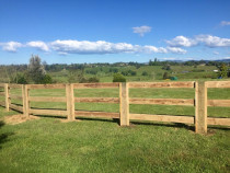 Lifestyle block post and rail fencing