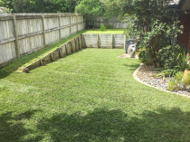 Instant lawn turf and garden borders