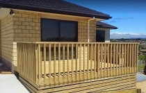 Timber Balustrade fence around a deck