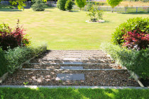 Garden steps to lower garden level