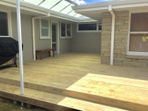 Deck with step surround