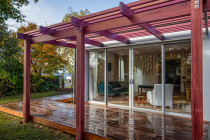 Mayfield Ave - Purple heart pergola and Garapa deck