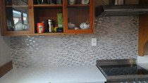 Mozaic Splash Back 2 in Henderson Auckland - Work done by Tidy Tiling Service