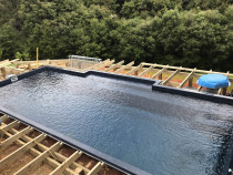 Pool Deck (Part 2) - This is showing the joists nearly completed by Top 2 Bottom Carpentry Ltd