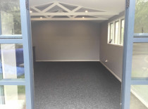 Garage Renovation (Part 2) - This is showing the inside all completed by Top 2 Bottom Carpentry Ltd, the client wished to use the area as an office and storage area for work.