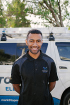 TopMark Electrician Nathaniel - Nathaniel has been with the TopMark Electrical team for over 4 years now and thoroughly enjoys the large variety of interesting projects he gets to be involved with.