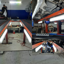 Commercial lighting by TopMark Electrical - Lighting installation at a vehicle testing centre recently completed by TopMark Electrical
