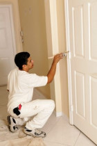 door painting - this door painted at Flat Bush by Value Property Maintenance & Painting