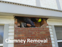 Chimney Removal being completed by Villa Services