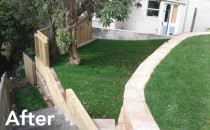 Landscaping completed by Villa Services