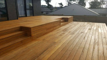 Deck- Millwater - Designed by Vista Construction Ltd. Two tier high quality vitex deck. 