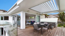 Renovation- Allum st by Vista Construction Limited - Louvretec used in soffit to provide a beautiful and practical deck area.
