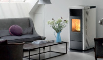 Rosa Pellet Fire - Modern look, reliable heating - available in 4 colours.