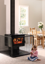 Metro Ambie One with Child Guard - Little ones running around? a child guard will keep them away from the firebox.