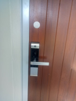 Electronic Digital Lock Installation - Western Lock Services LTd - Installed a Yale 3109 on a door with existing hardware.