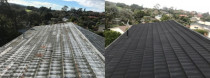 Decramastic tile roof resurface - Full re-chip to bring back original finish.
