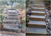 Concrete step replacement - Devonport, Auckland. 