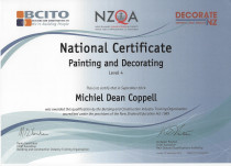 1BRUSH Paint Services Ltd NATIONAL CERT