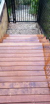 Small deck and stairs by Ace Of Spades Limited - Kwila decking was built to replace a rotten one.