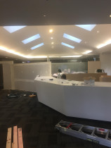 Commercial office refurbishment with new lighting by Connect Electrical 2015 Ltd