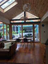 Grey lynn villa extension - Lawson cypress ceilings, yellow cedar joinery and new kauri floors